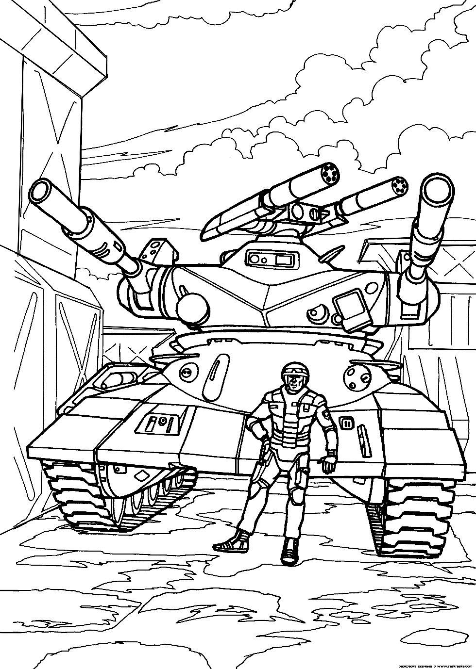 Раскраска танка Для мальчиков онлайн