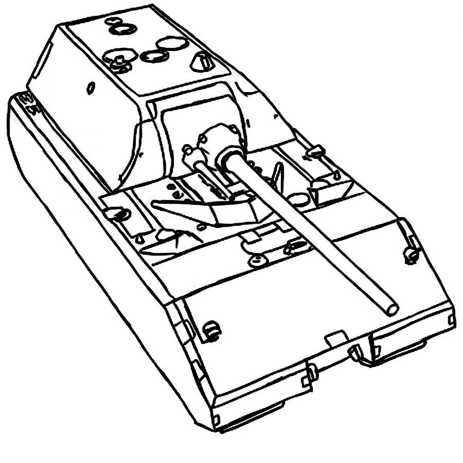Раскраска танка Маус онлайн