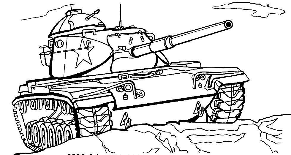 Раскраска танка World of Tanks Patton онлайн