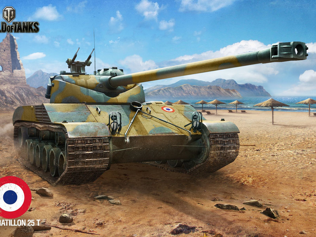 Обои с танками World of Tanks Bat.Chatillon 25t